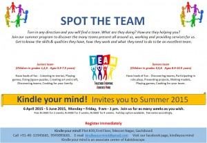 Spot the team - Summer 2015 at Kindle your mind