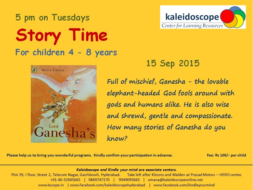 Story time Tuesdays 15Sep2015