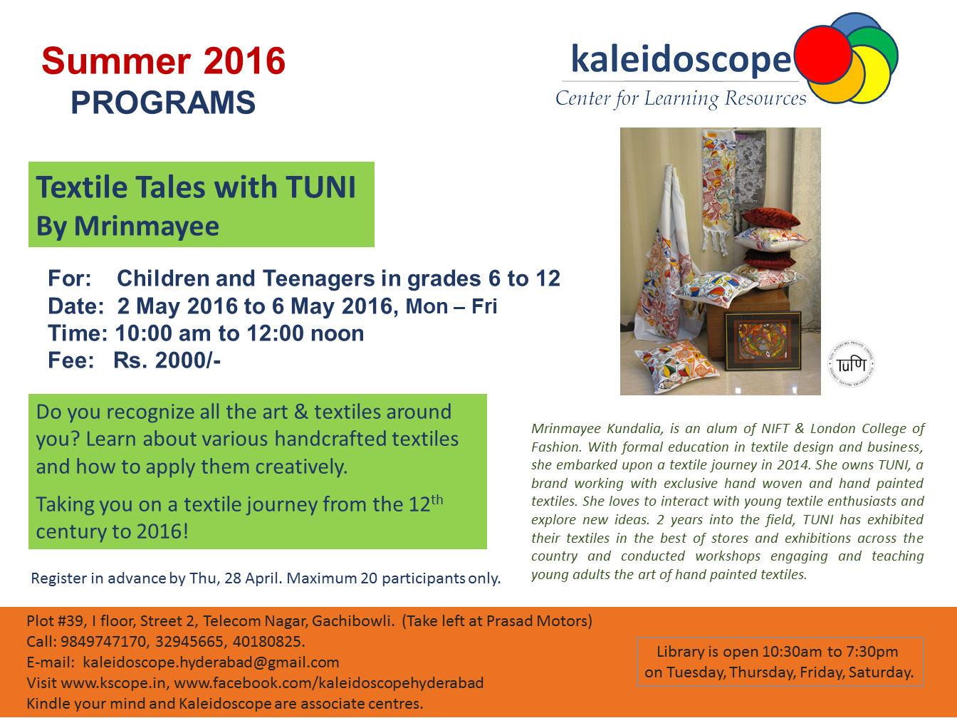 Textile Tales with TUNI