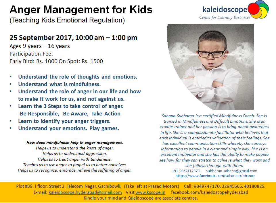 Anger management for kids sept 2017